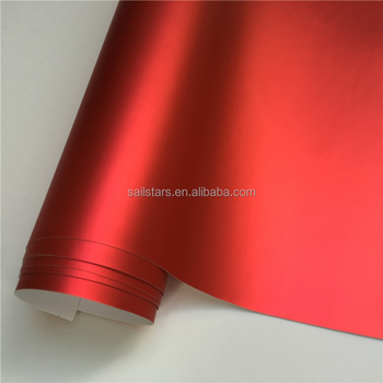 Best Quality Matte Chrome Red Vinyl Wrap Bubble Free For Car Wrapping