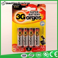 Alibaba Suppliers Guaranteed Quality Environment Friendly Dry Battery R6P Um3 Aa Battery