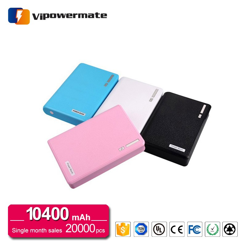 Best Quality Portable 10400mah 5V 1A 2.1A Dual usb Power Bank For Charge