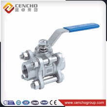 "Cangzhou Factory Directly Provide Product 1-4""stanless Steel 3pc ball valve handles investment casting China"
