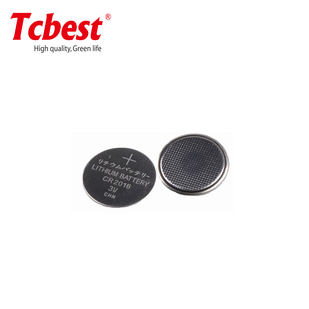 Hot sell top quality 3V lithium manganese CR2016 75mAh, OEM ODM