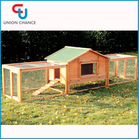 Wooden Raised Rabbit Hutch Pet house Wooden Bunny House