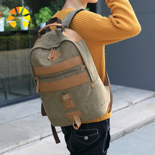 Wholesale fashion casual canvas hot sell man backpack for <strong>school</strong>