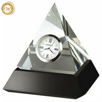 Cheap Crazy Selling crystal pyramid table clock