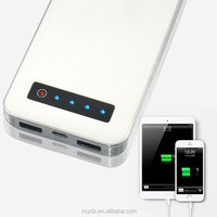 8000mAh Dual USB Ultra-compact Portable Charger Backup External Battery Power Bank Pack for Apple iPhone 5S / 5C / 5, 4S, iPad