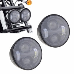 4.8Inch Dual Motorcycle Daymaker Projector LED Headlight For '08-later Harley Davidso-n Bob FXDF Daymaker Headlamp Double lamp