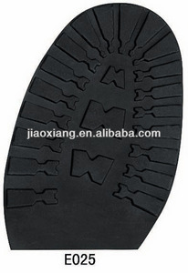 E025 Tooth Shape Natural Rubber Soles For Shoe Making
