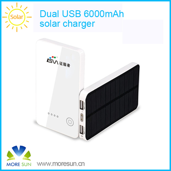 Dual USB solar system solar mobile charger for mobile phone
