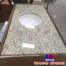 Polished Giallo Venus Granite Vanity Top With Ceramic Sink