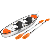 Transparent PC material tour boats Kayak for sale
