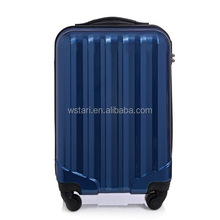 Decent ABS PC trolley bag/trolley luggage with 4 wheels,Navy Color Business Hard Shell Trolley Suitcase