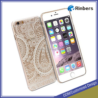 Crystal Clear Paisley Snap Cover Case Glossy for iPhone 5 5S 6 6S Plus
