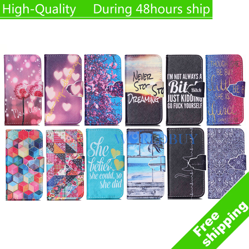 For iPod Touch 5 Touch 6 Luxury Painting Leather Case Stand Flip Wallet Mobile Phone Cover Free Shipping