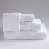 motel and hotel white fancy bath towels set wholesale