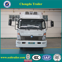 2016 4-5tons SINOTRUK refrigerated truck for fresh meat fish /cooling van truck