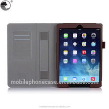 Shockproof Leather Cover With Card Holders Flip Tablet Case With Strap For iPad Air 2
