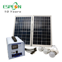 20w 30w/12v home solar system for home lighting portable DC solar kit for sale