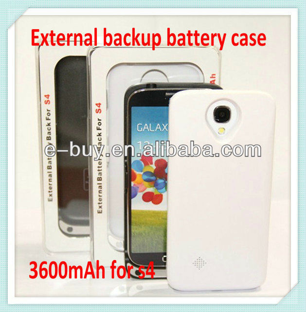 3600mAh external s4 power pack case for Samsung galaxy