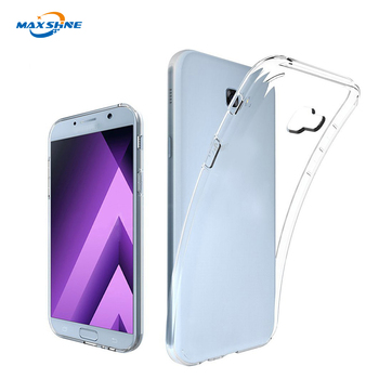 For samsung a5 2017 clear shockproof soft tpu mobile phone case