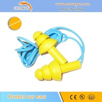 Reusable Silicon Rubber Earplugs With Cord