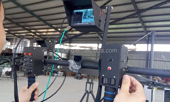 Professional jimmy jib video camera triangle crane12m with motorized head
