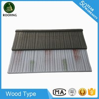 Professional Wood coated steel roof tile,roof shingle price for wholesales