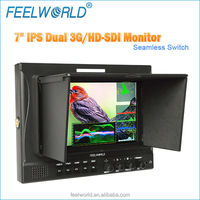 New arrival! 7 inch hd lcd monitor dslr as tv broadcasting equipment with waveform,vetorscope,seamless