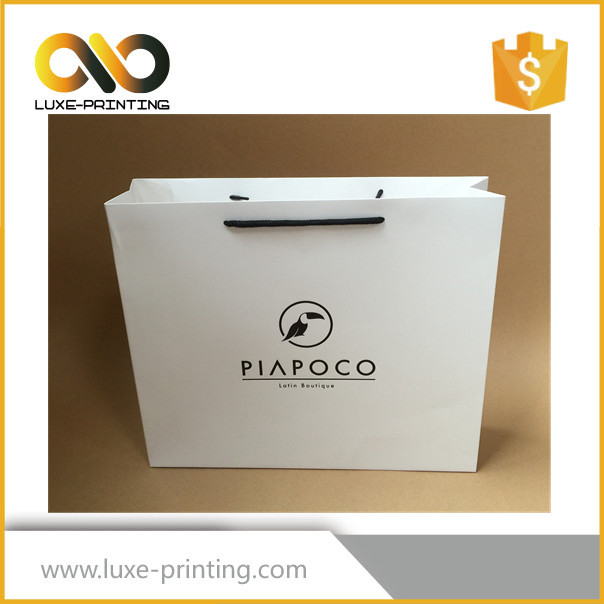 Good quality decor luxury shopping paper bag with handle
