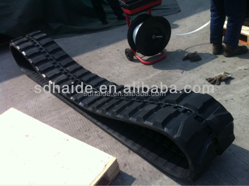 PC50UU rubber track 400x72.5x70N,small excavator PC50UU undercarriage rubber crawler