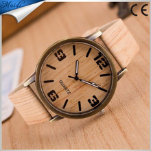 New Fashion Brand Bamboo Wood Women Watch 6 Colors Leather Strap Wristwatches LW004