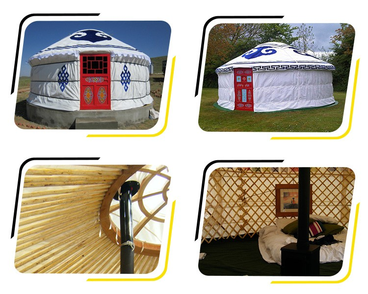 white color mongolian yurt