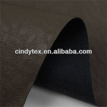 0.8mm tan drapery rayon polyester cow pu synthetic leather