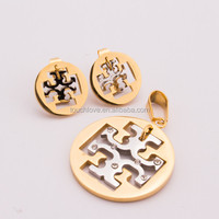 dubai 18 carat gold plated earring jewelry sets