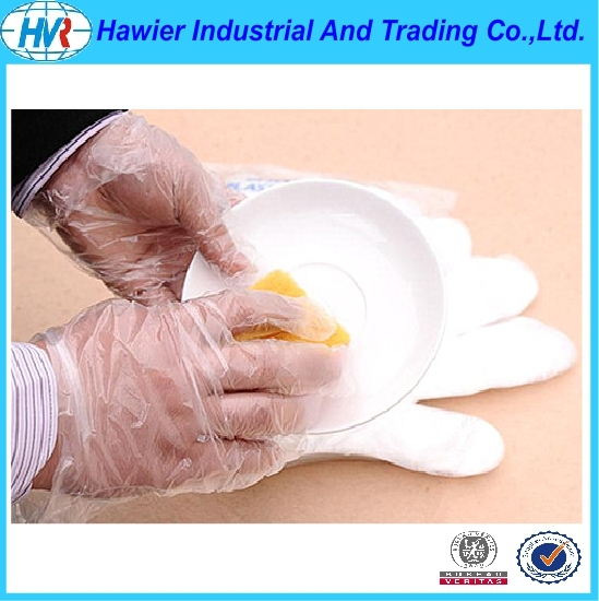 Waterproof Plastic Cleaning Use Disposable HDPE Gloves for Kitchen