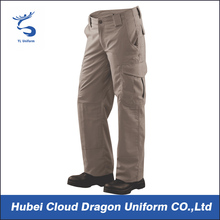Light coffee color tactical mens cargo pants with side pockets