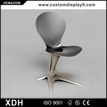 Wholesale flower shape black stainless steel office furniture chair
