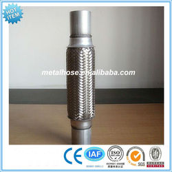 flexible corrugated exhaust pipe hose stainless steel SS304 316