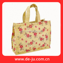 Small bear screen printing customized recyclable shopping cotton bag