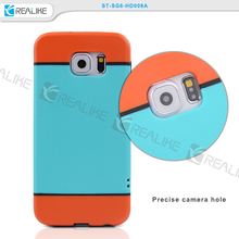 For Samsung Galaxy S6 PC Bumper+Silicon Cover