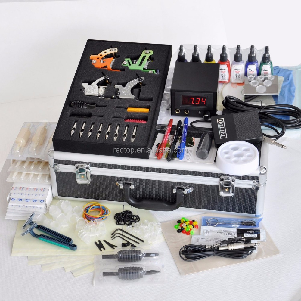 Professional Four Machine Gun Tattoo Complete Kit
