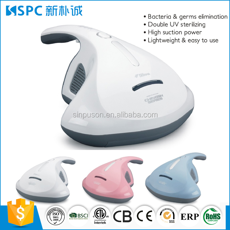 High suction power 600W light weight mini UV-C mite cleaner vacuum cleaner for bed