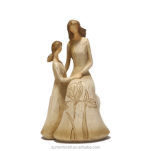 Resin crafts mother and child sculptures