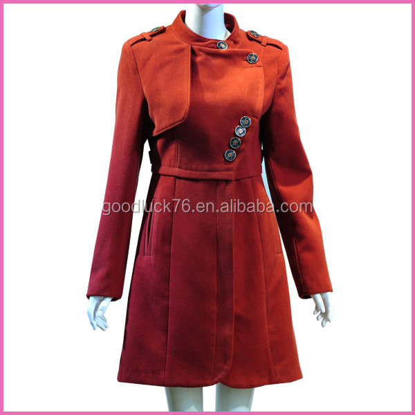 Custom winter trench coat wholesale for women