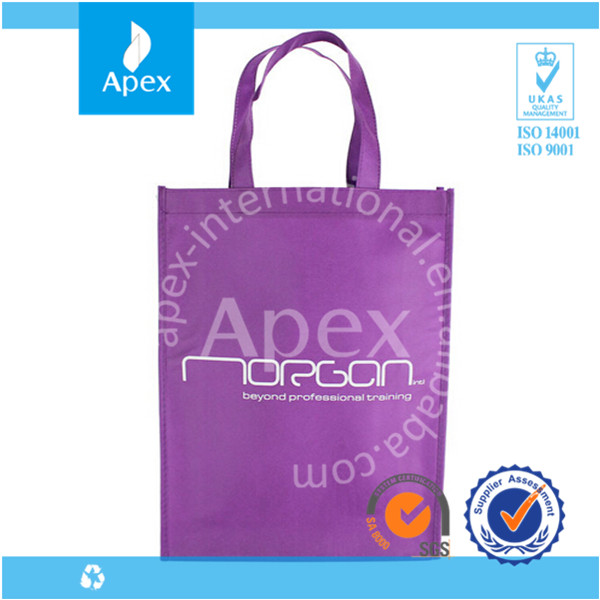 cheap logo printed promotion nonwoven shopping bag