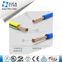 6Mm2 Copper Conductor Material H07V-U Cable