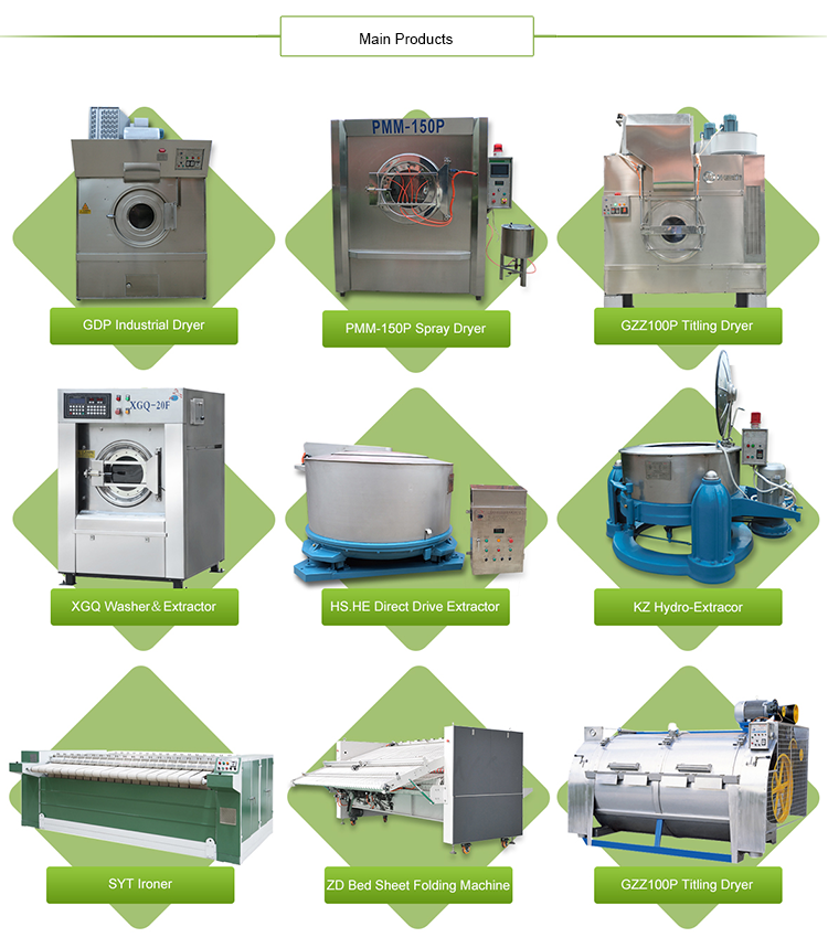 Hot Selling Automatic Horizontal Tilt Industrial Washing Machine
