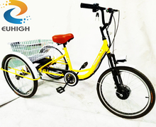 Front 24 inch 3 wheel electric tricycle