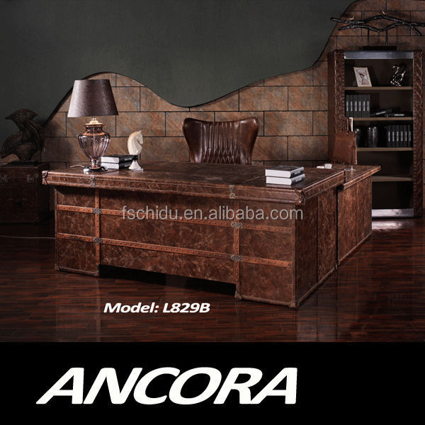 luxury office furniture antique office table desk L829
