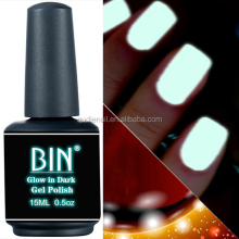BIN 15ML glow in dark gel nail polish