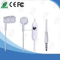 CE Approved Fashion In ear Headphone Earphone for MP3 with 3.5mm Jack Plug